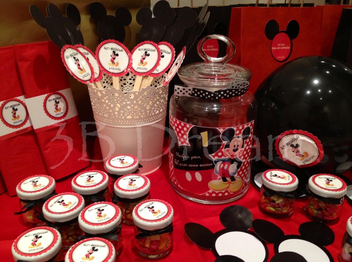 Ali Nin Mickey Mouse Temalı Doğum G 252 N 252 Hazırlıkları