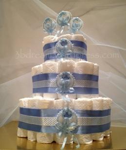 bebek bezi pastası - diaper cake