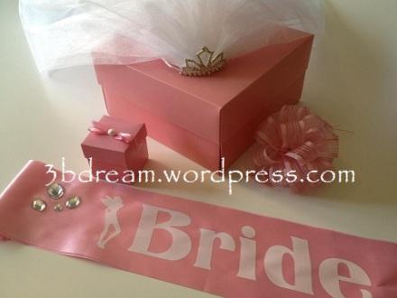 bride to be bant ve gelin tacı