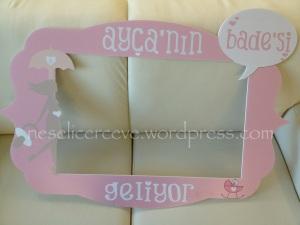 fotoblok çerçeve - anı çerçevesi babay shower kız bebek