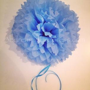 pompom çiçek tissue paper